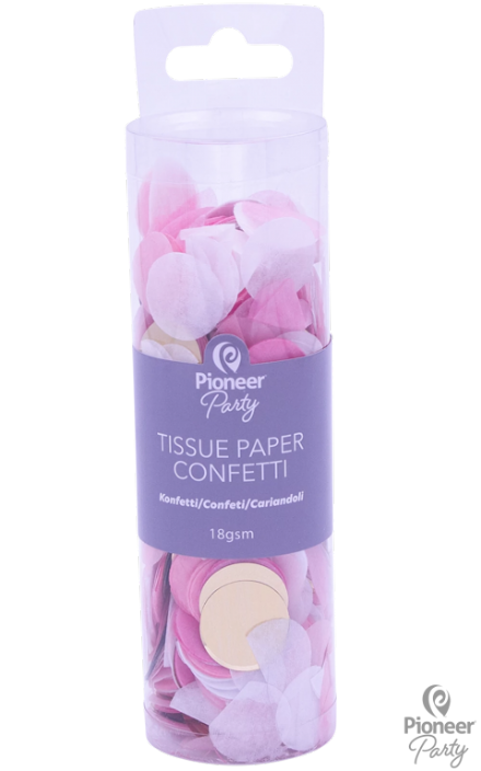 Pioneer Party Pink/Gold Tissue Confetti 18g
